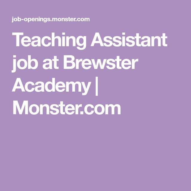 Teaching Assistant job at Brewster Academy | Monster.com
