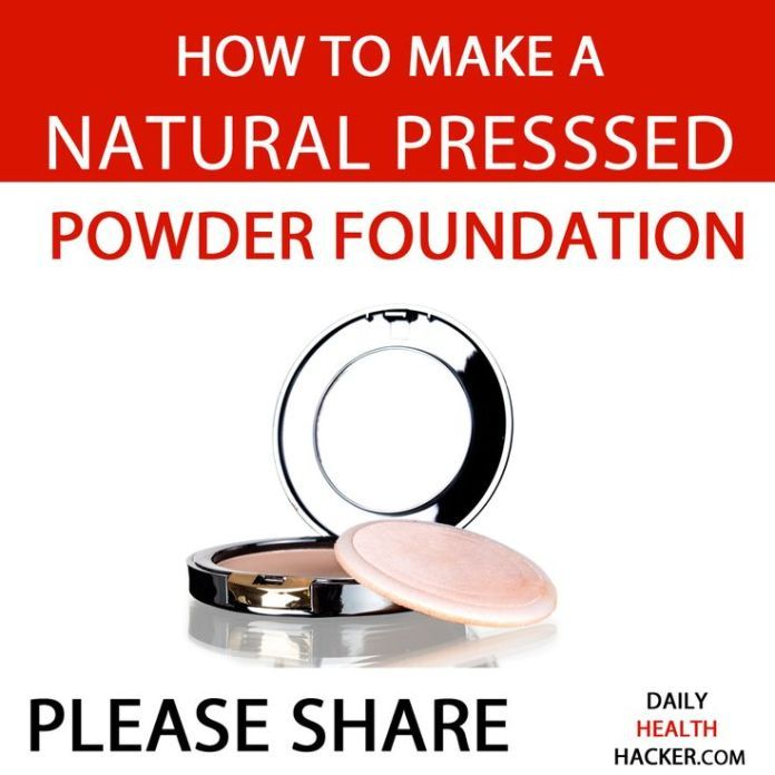 DIY Skin Care Recipes : How To Make A Natural Pressed Powder Foundation