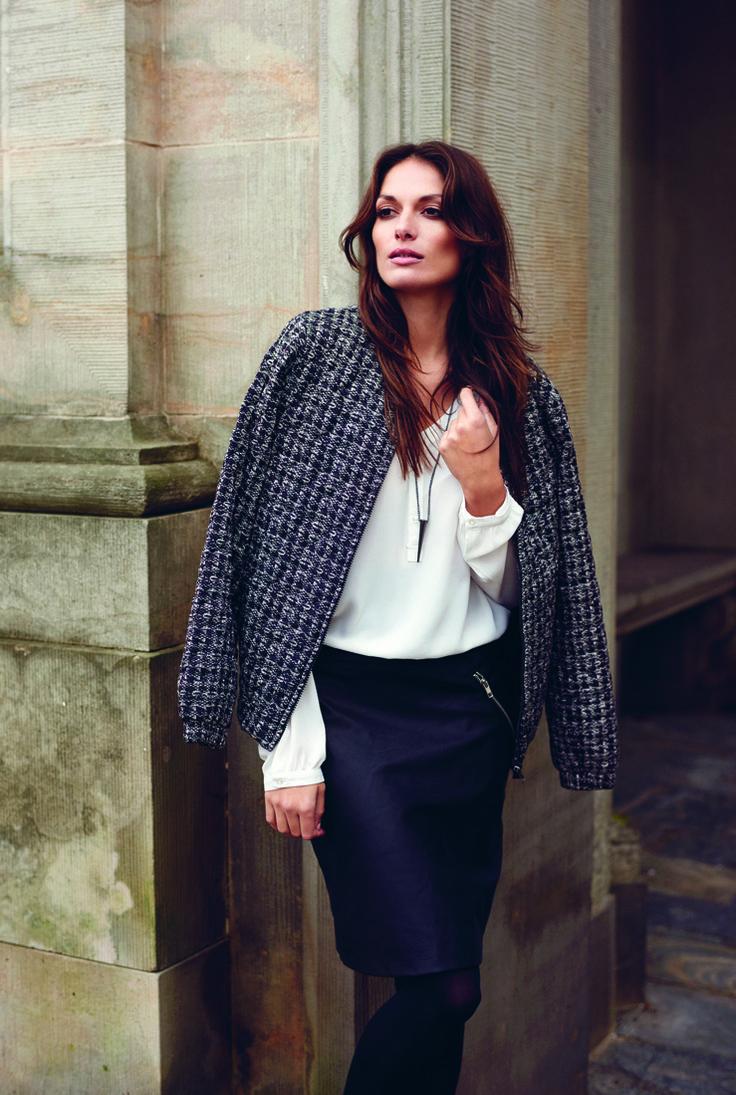Soyaconcept - jacket - blazer - shirt - skirt - black and white