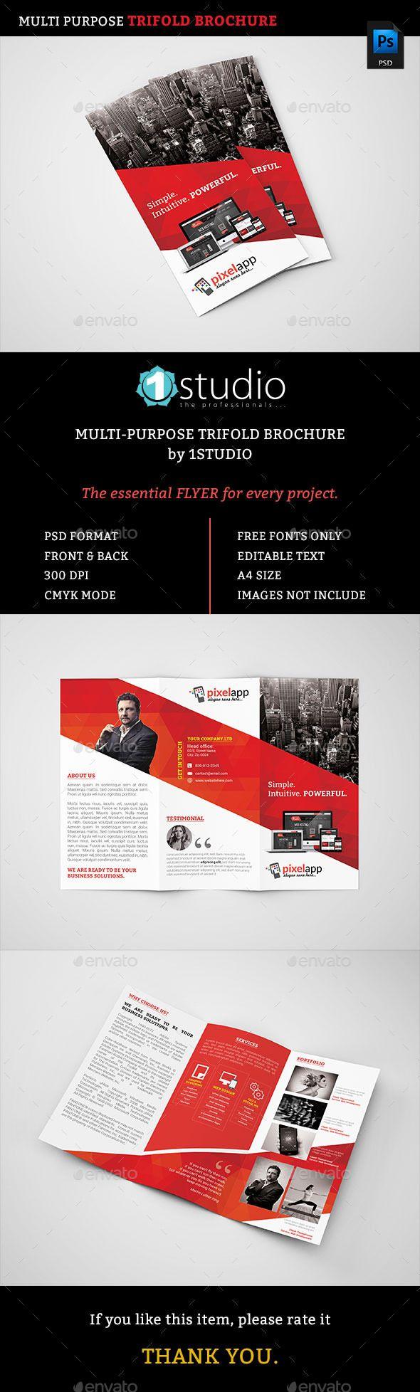 Corporate Trifold Brochure Template #design Download: http://graphicriver.net/item/corporate-trifold-brochure/12739660?ref=ksioks