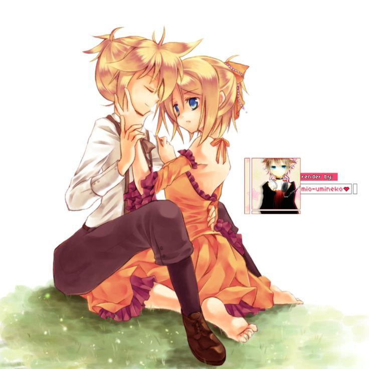 Rin and Len Kagamine Render by mio-umineko