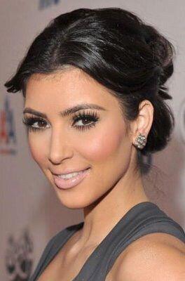 Kim's make up full eyelashes