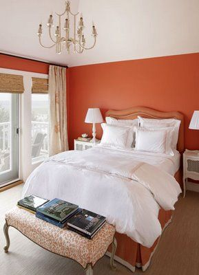 bring fall colors into your home with warm orange walls fall decor - Orange Color Bedroom Walls