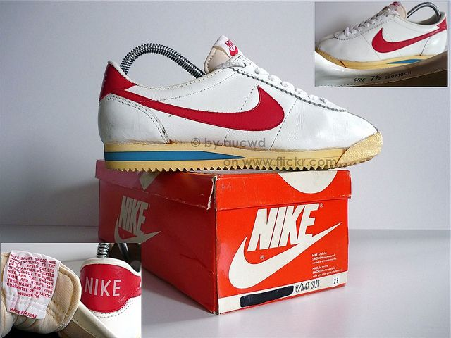 "Nike original tennis shoes... so simple back then. These were our ""mandatory"" cheerleading shoe."
