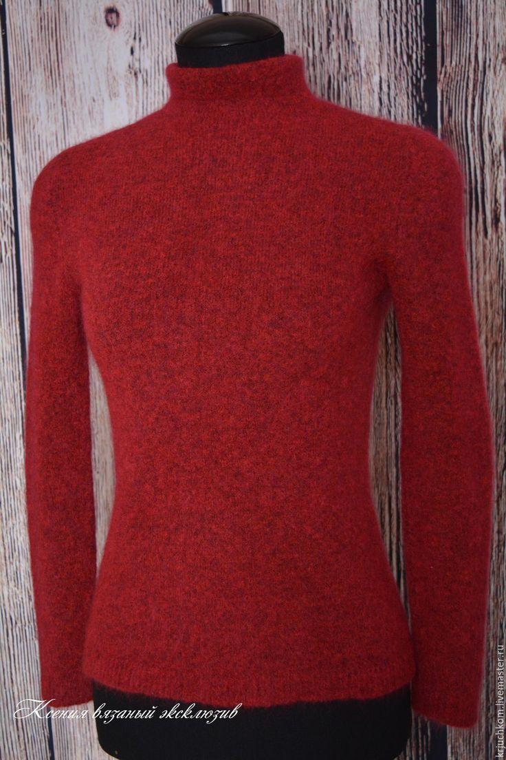 """Купить Водолазка мохеровая"""" Воздушное облако"""" - бордовый, однотонный, свитер мохеровый, водолазка вязаная, водолазка"""