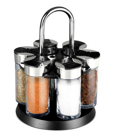 Loving this Revolving Spice Rack Set on #zulily! #zulilyfinds
