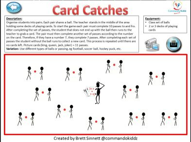 Card Catches - throwing warm up