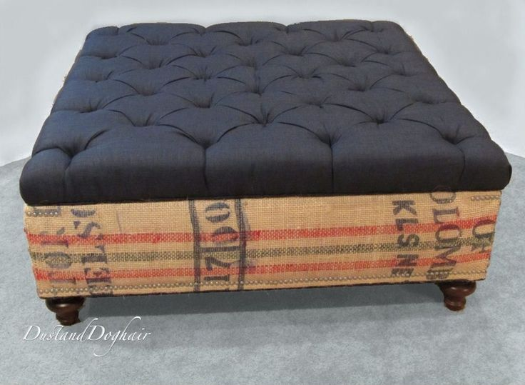 """An Authentic DIY """"Coffee Table""""/Storage Ottoman"""