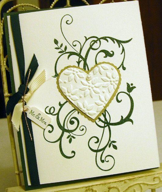 Wedding Card Hunter Green Gold Vanilla by britishislesartworks, #Wedding cards| http://weddingcardsmozelle.blogspot.com