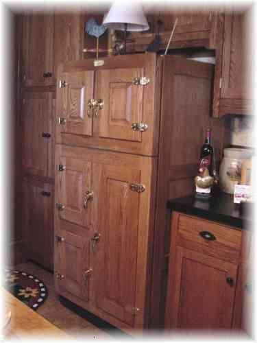 Modern fridge made to look like an old antique icebox - with website