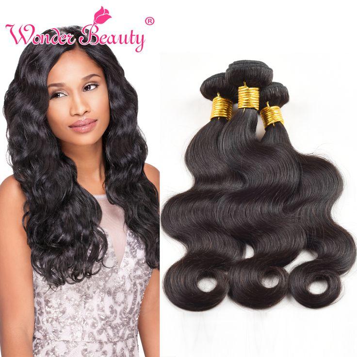 Malaysia Virgin Hair Body Wave 3 Bundles 100% Malaysian Hair Natural Black Human Hair Weaves Wonder Beauty Unprocessed Hair