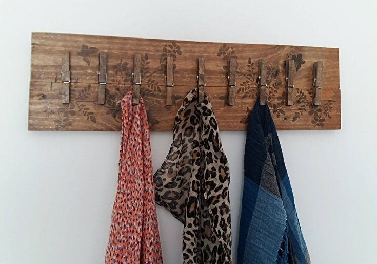 """¡Gracias por tus palabras! ★★★★★ """"I love this wooden coat rack my scarves look great hanging from it. It was shipped o me quickly."""" cindy k. http://etsy.me/2DwrRzK"""