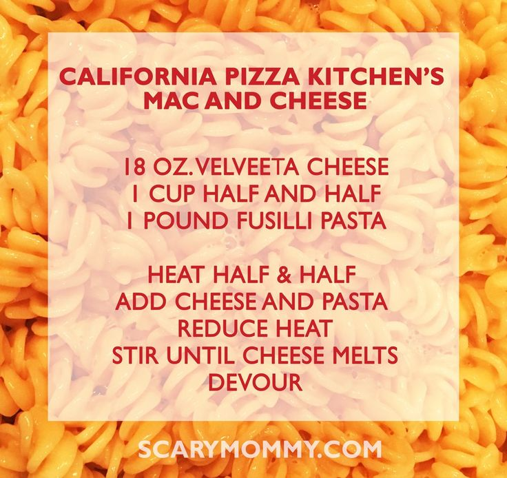 California Pizza Kitchen Mac and Cheese Recipe Scary Mommy