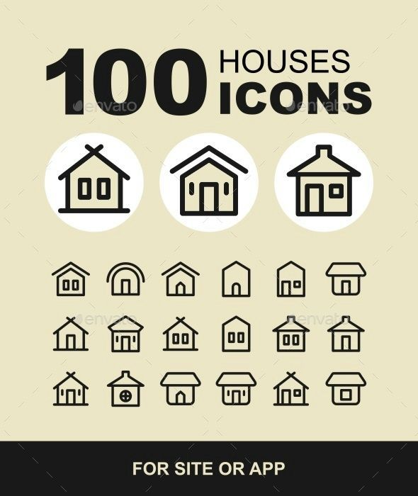 Houses icons set. Real estate. #home icon,