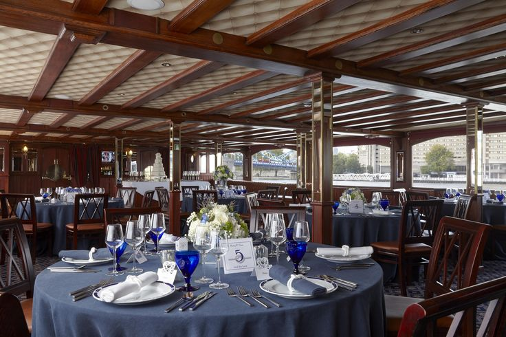 Nautical themed wedding on the River Thames, on board the PS Elizabethan