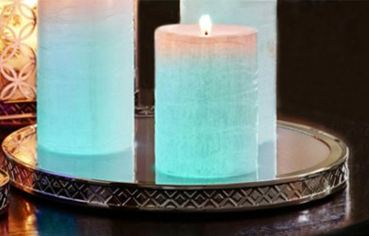 Color Changing Candle Tray by PartyLite creates gorgeous colors!