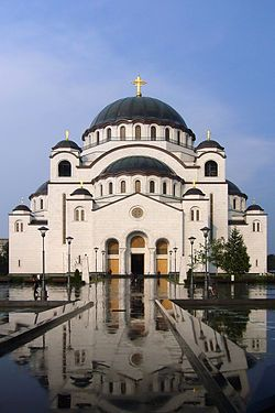 Belgrade, Serbia.  Temple of St. Sava