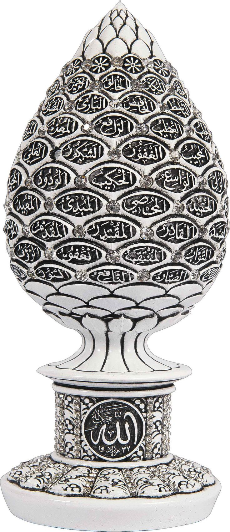 A luxury engraved statue with the 99 names / attributes of Allah (SWT) inscribed on it. A great Wedding,Graduation, Ramadan, Eid, Wedding, New Home Gift, etc. It comes in many different finishes and j