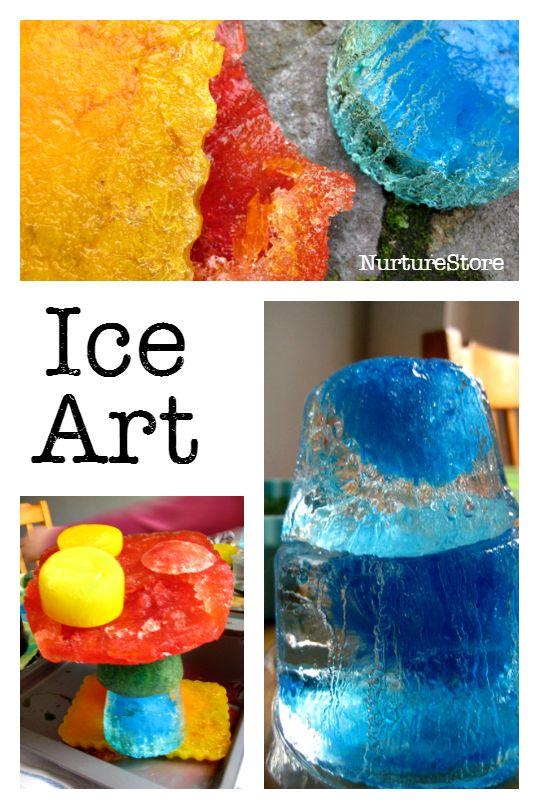 Gorgeous ice sculptures :: process art :: ice sensory play