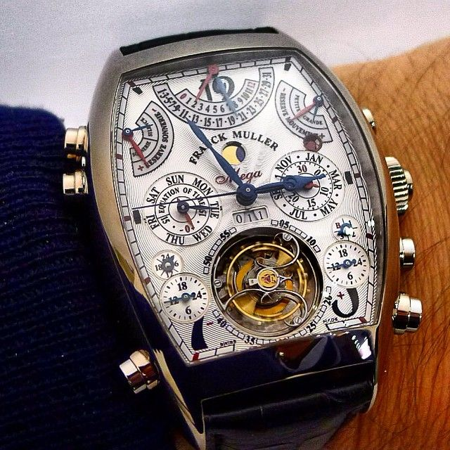 This is what I call a giga hyper super ultra highly complicated watch... 36 complications, 1483 movement parts, a price tag over 2.5 millions USD... The Franck Muller Aeternitas Mega4.