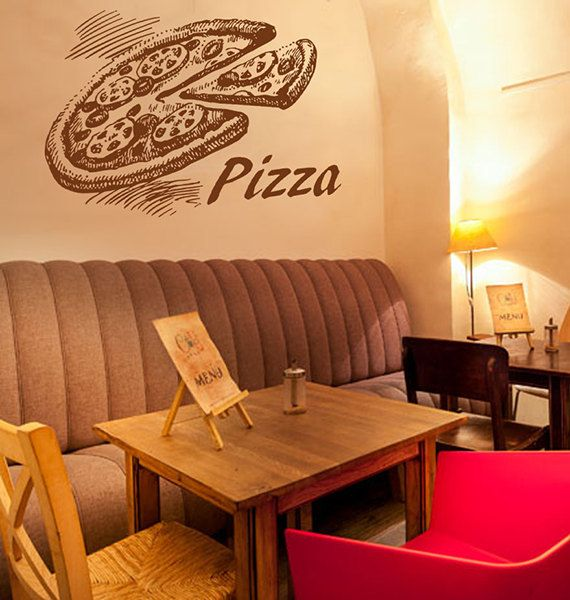 Restaurant Wall Decor 23 best pizzeria pizza stickers decals images on pinterest
