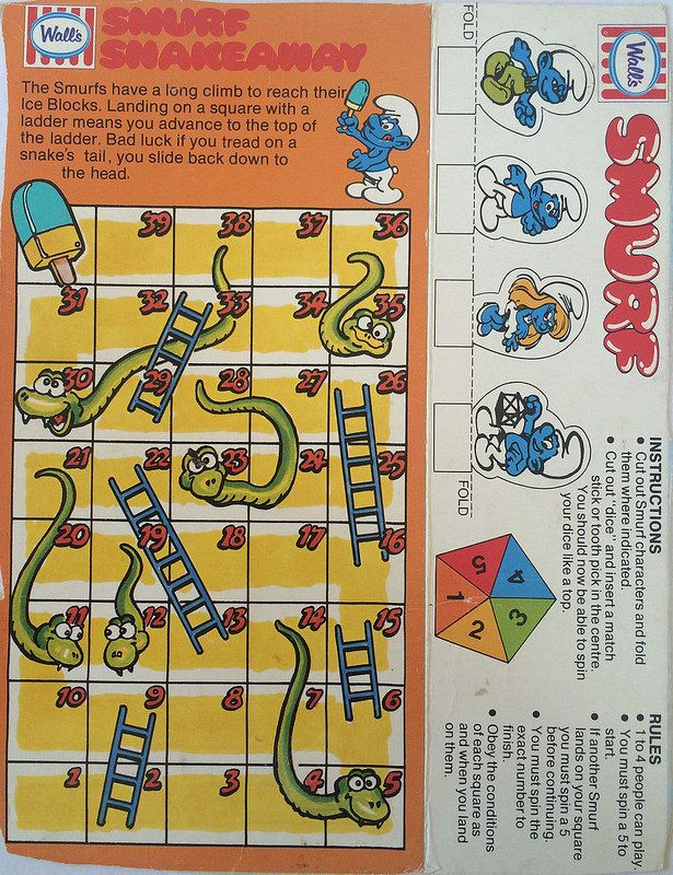 1980s Walls Smurfs Box Game