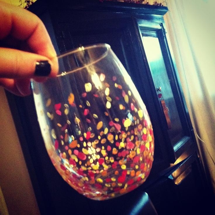 Nail Polish Painted Wine Glasses- HireAbility