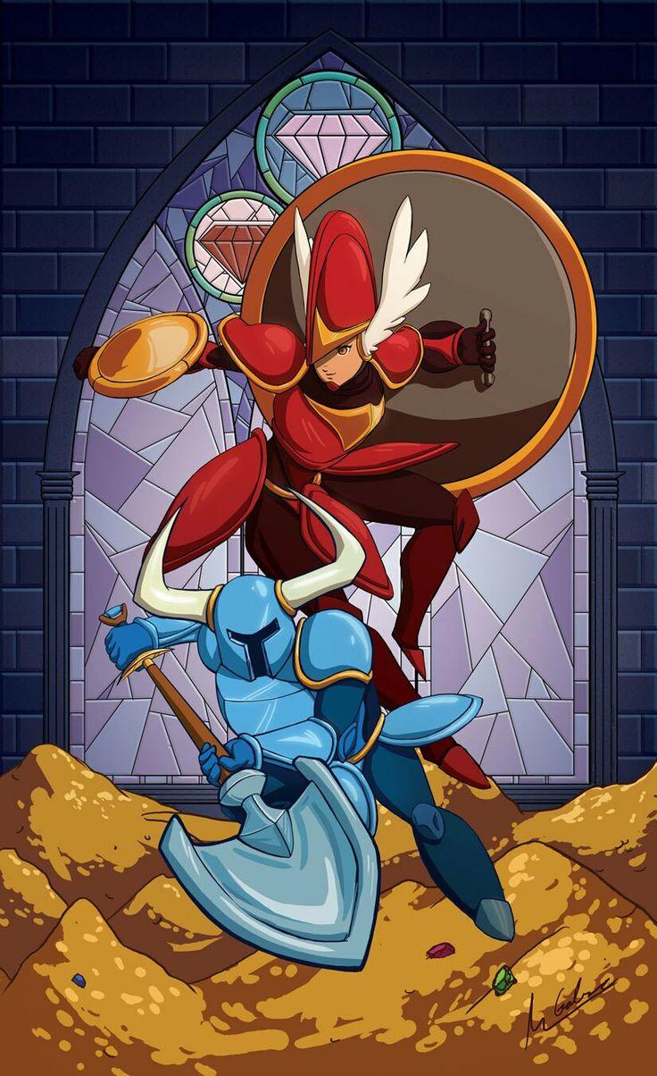 Shovel knight and shield knight