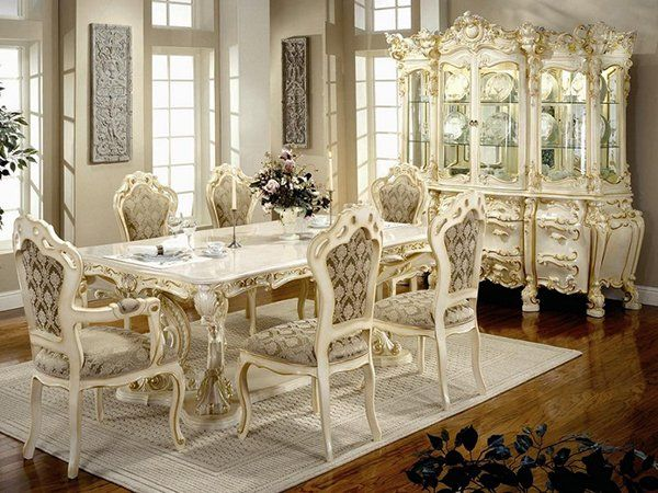 20 Elegant Designs Of Victorian Dining, Victorian Style Dining Room Set