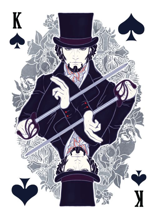 The Count of Monte Cristo Playing Cards - Edmond Dantès as King of Spades - playing cards art, game, playing cards collection, playing cards project, cards collectors, design, illustration, card game, game, cards, cardist, cardistry, card back