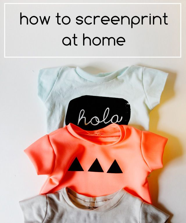 DIY TUTORIALS: SEVERAL: how to screen print at home, graphic tees for baby and a silhouette portrait giveaway! - see kate sew