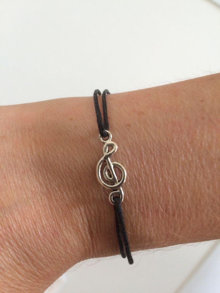Bracelet elastique en note de musique