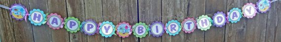 Personalized Happy Birthday Banner Ocean by SerendipityPartyShop