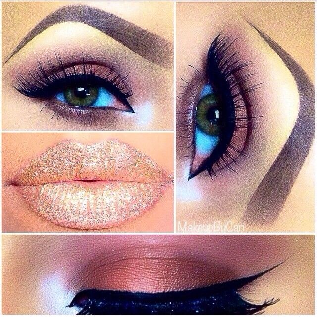 .@makeupbycari | Soft and simple look! On lid and lower lash line used (Chocoholic) eye shadow