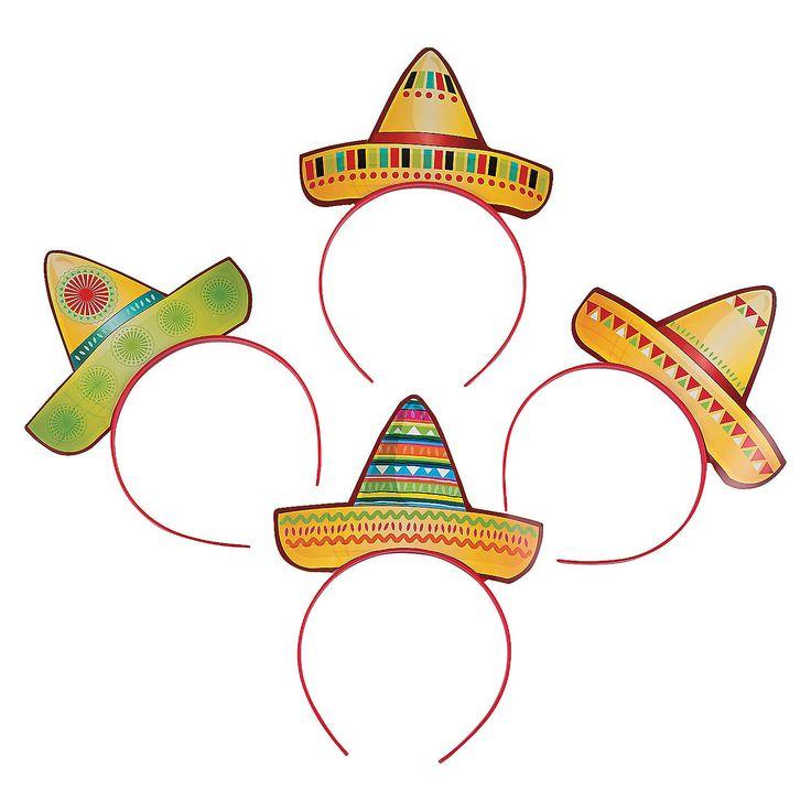 Sombrero Headbands - OrientalTrading.com