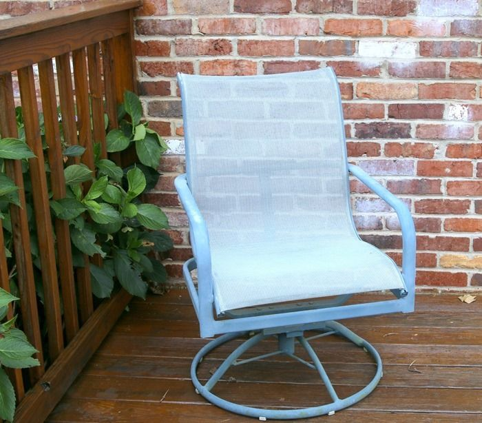 Best 25 metal patio furniture ideas on pinterest rustic outdoor decor rustic patio and Spray painting metal patio furniture