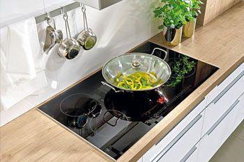 Moderne-Einbauküche Wermona 1107-3241-Katthult-Pinie-Anthrazitgrau-Grifflos - Küchen Quelle