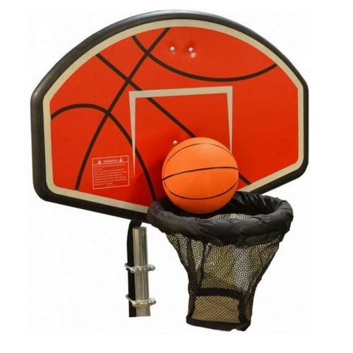 Universal Trampoline Basketball Hoop With U-Bolt Attachment