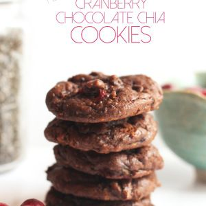 Flourless Cranberry Chocolate Chia Cookies (Vegan & Paleo)