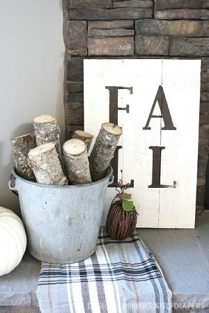 DIY Rustic Fall Sign - Design Dining And Diapers