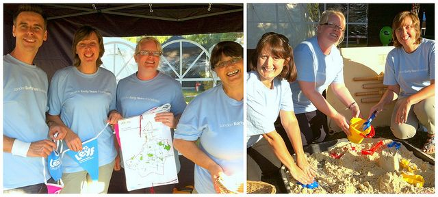 All smiles! Richard, Pauline, Rowena, Caroline and Maria who manage our nurseries in Barking & Dagenham at the Havering Town Show where we held a stall to promote our work. August 2013 #daycare #leyffriday #earlyyears #London #Havering #Nursery #Childcare