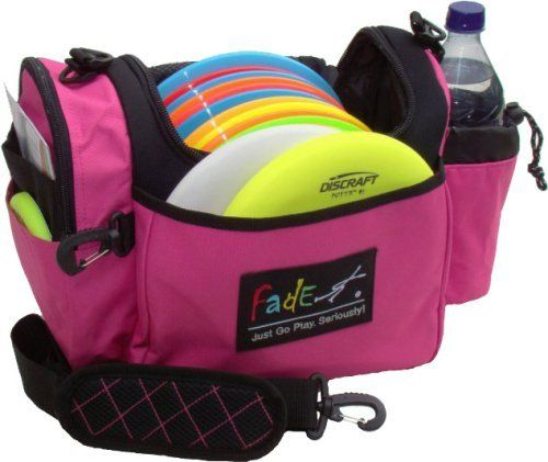 Fade Gear Crunch Box Disc Golf Bag Fuschia by Fade Gear. $28.49. You can search, but you won't find another bag with a feature list like this one at this price!  They have a crew that test the bags harder than you'll ever use it. Notice the side pockets. They are raised up, away from the bag bottom so they don't drag on the ground and wear around the edges like other bags. Plus, they added some of those tiny little feet that really work well on a bag this size. They ...