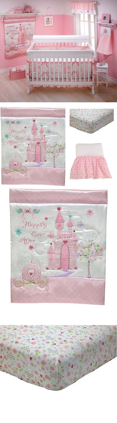 Nursery Bedding Sets 162040: 3 Pcs Disney Princess Happily Ever After Crib Bedding Set For Little Girls, Pink -> BUY IT NOW ONLY: $52.99 on eBay!