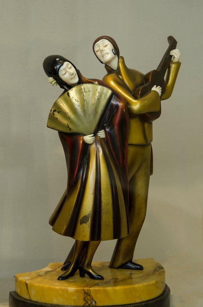Pin De Alberto En Chryselephantine Esculturas Art Deco Art Nouveau