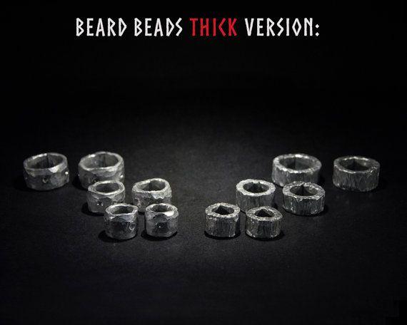 Beard beads. Thick version. Raw metal beard by TheWayfairyer