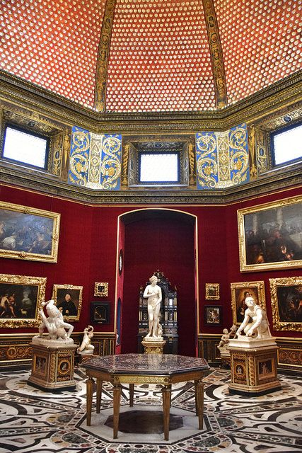 A gallery room in the Uffizi Gallery Museum, Florence, Italy Firenze
