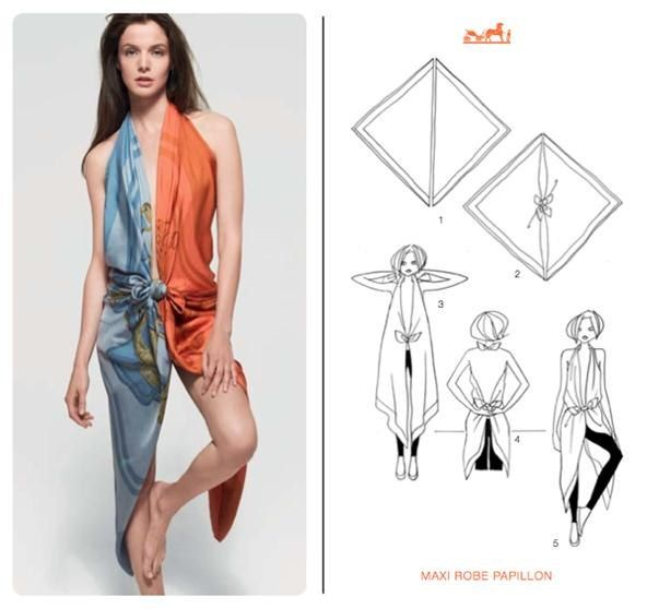 21 Chic Different Ways to Knot a Hermès Scarf