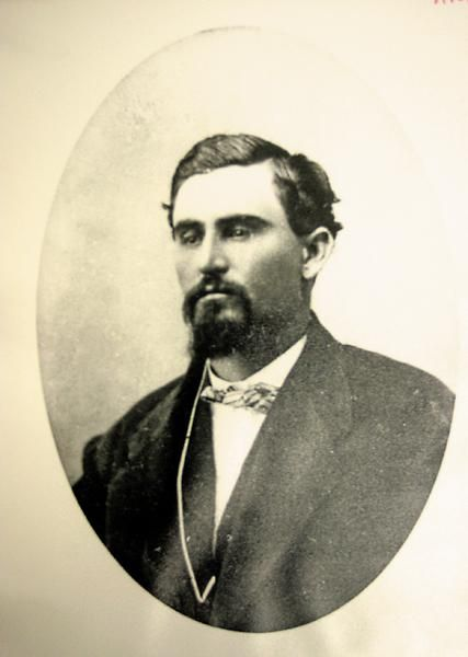 This photo of a young Charles Goodnight gives us a good idea of how the 31 year old looked at the time of the Comanche attack that led to the death of his partner. No longer would the pair of them ride together, with their herd of Texas Longhorns, up the trail they had blazed the year before.