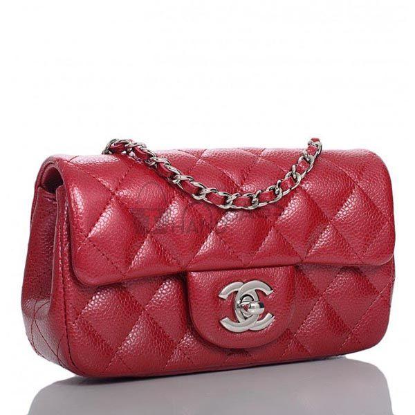 Chanel Dark Pink Mini Flap Bag