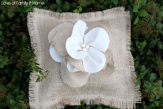 DIY Wedding Ring Bearer Pillow DIY Burlap Ring Bearer Pillow